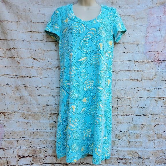 Lilly Pulitzer Kelsea Sea Shell Ocean Dress Sz S